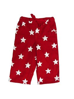 Boy`s cord trousers red with stars