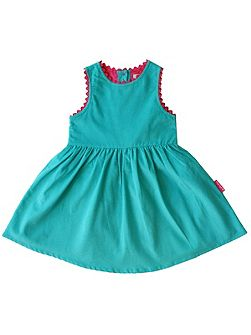 Toby Tiger Girl`s cord party dress with pink