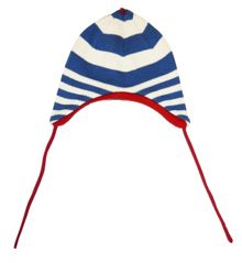 Boy`s knitted fleece lined hat with ties