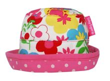 Toby Tiger Girl`s reversible sunhat in multiflower