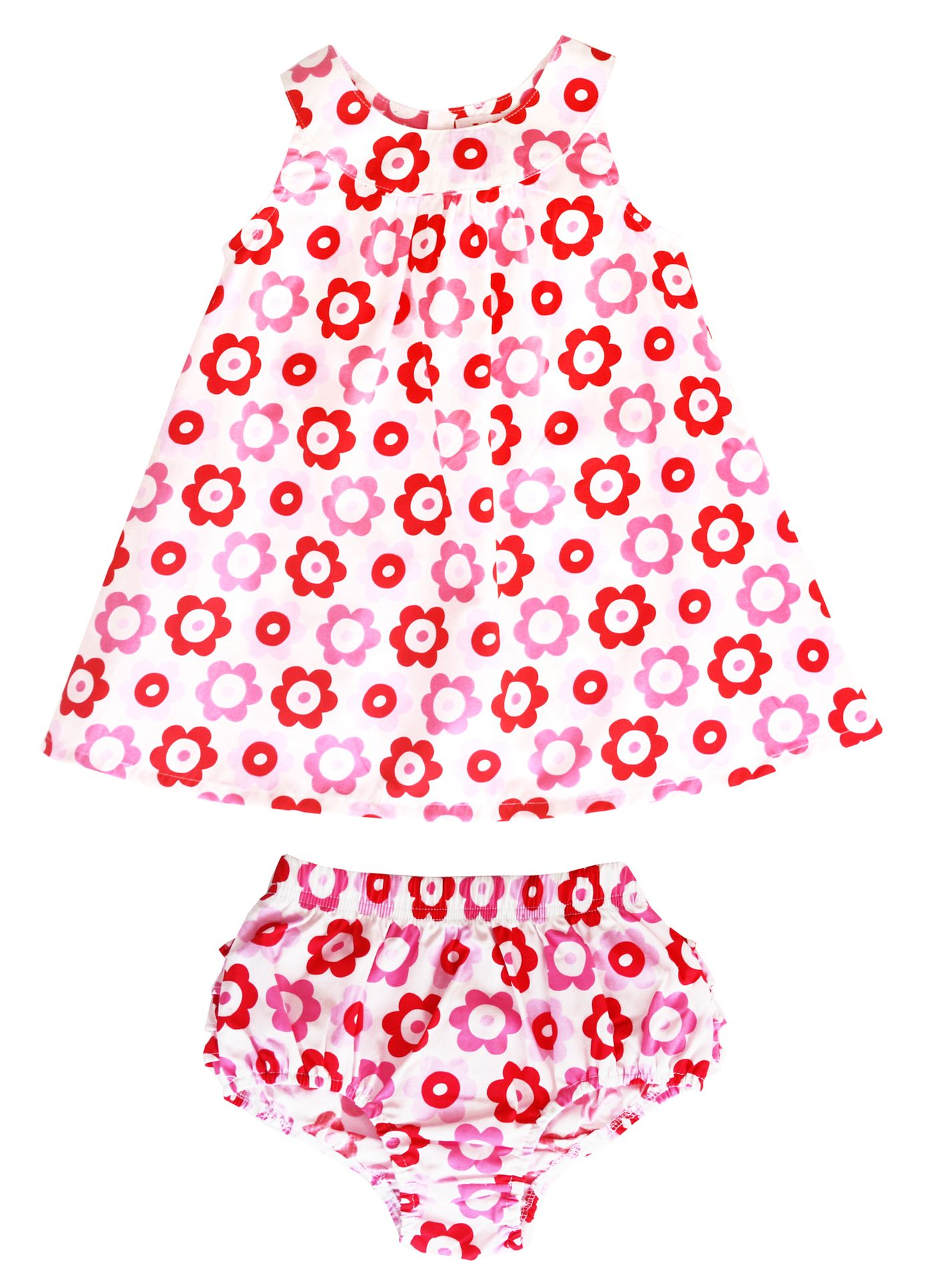 Girl`s dress & pant set in pop flower