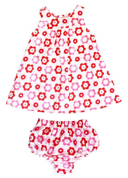 Toby Tiger Girl`s dress & pant set in pop flower