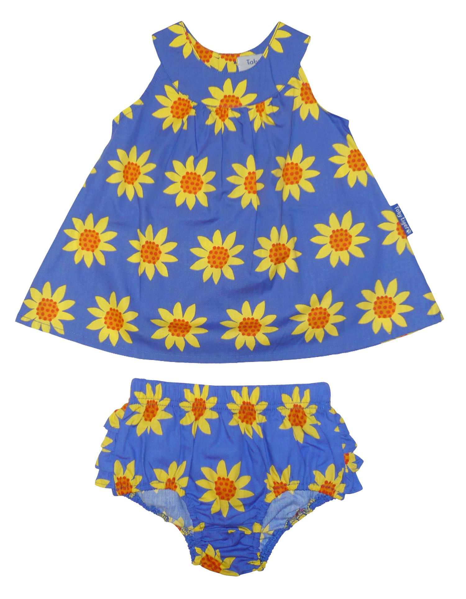 Girl`s dress & pant set in sunflower