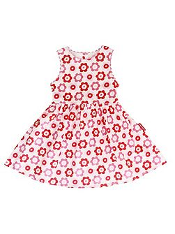 Toby Tiger Girl`s party dress in pop flower