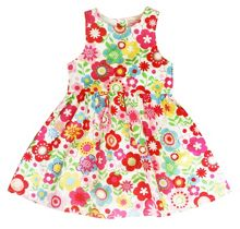 Toby Tiger Girl`s party dress in multiflower