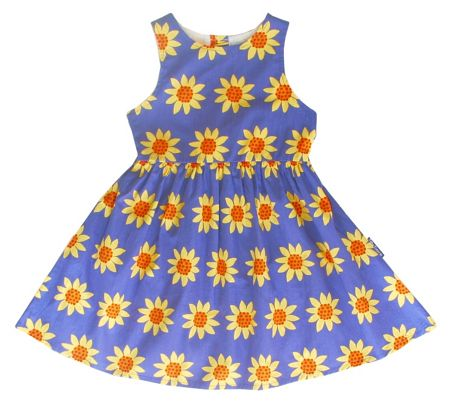 Toby Tiger Girl`s party dress in sunflower