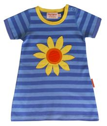 Toby Tiger Girl`s organic cotton t-shirt dress