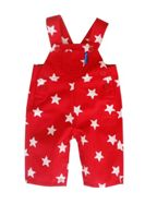 Boy`s red star dungarees