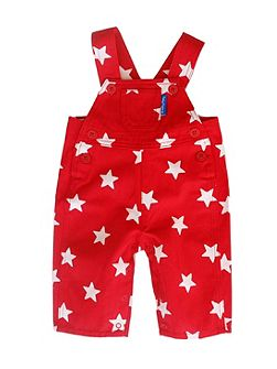 Toby Tiger Boy`s red star dungarees