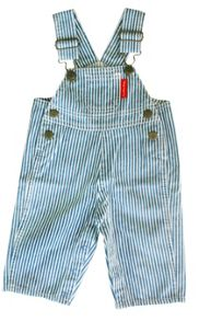 Boy`s blue stripe dungarees