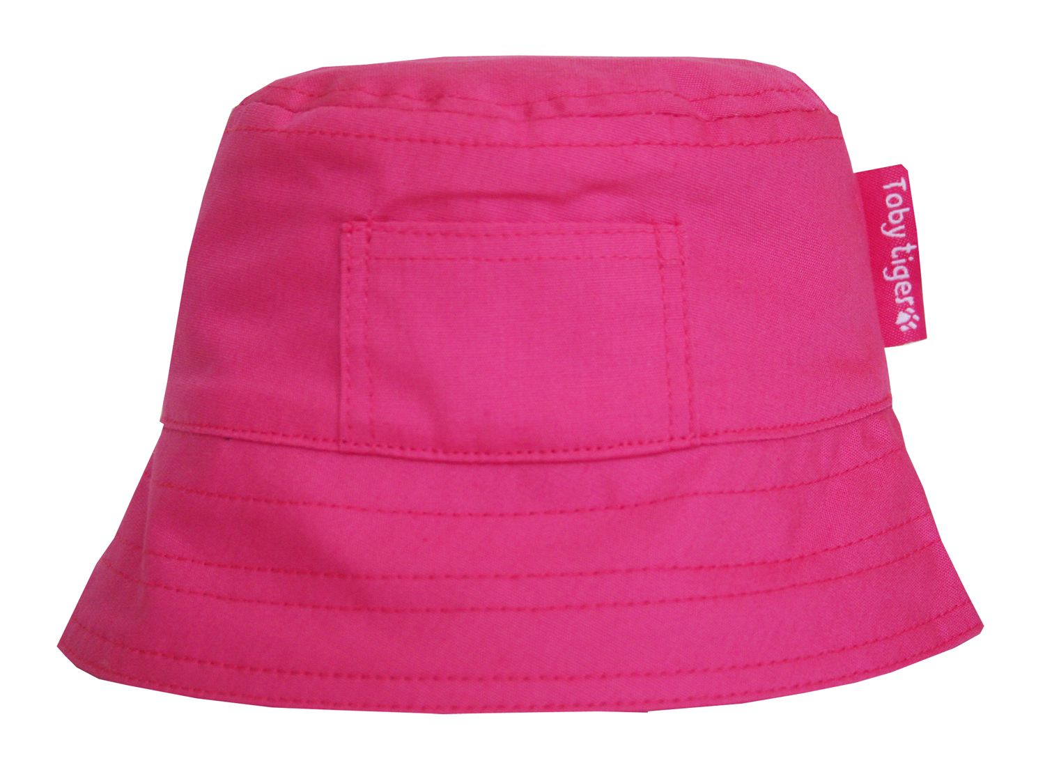 Toby Tiger Toby Tiger Girl`s canvas sunhat in pink, Pink