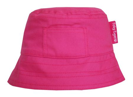 Toby Tiger Girl`s canvas sunhat in pink