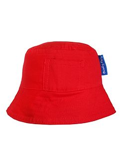 Boy`s canvas sunhat in red