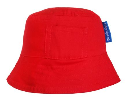 Toby Tiger Boy`s canvas sunhat in red