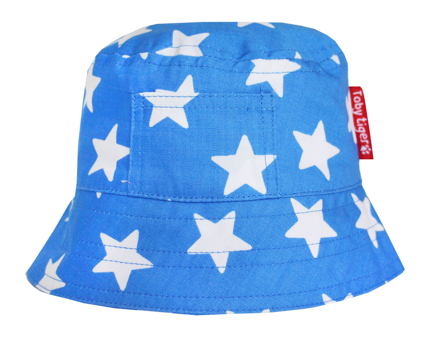 Boy`s canvas sunhat in blue star