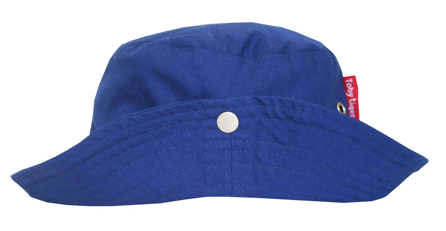 Boy`s canvas toddler sunhat in blue