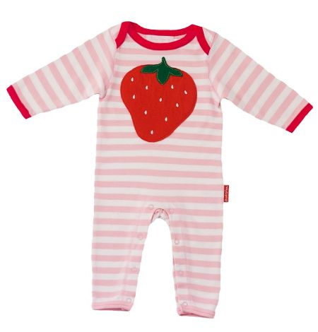 Toby Tiger Baby organic cotton sleepsuit