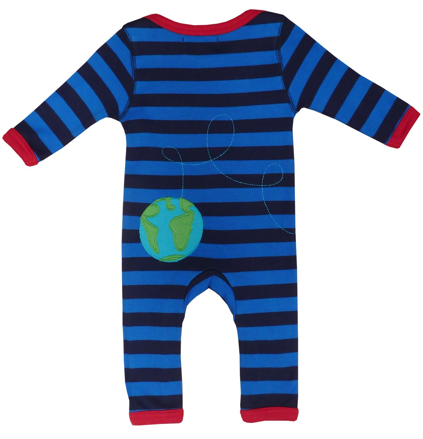 Baby organic cotton rocket sleepsuit