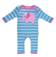 Baby organic cotton elly sleepsuit