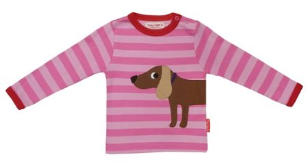 Toby Tiger Girl`s organic cotton dog t-shirt