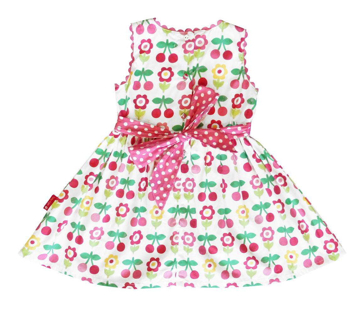 Girl`s party dress in cherry flower