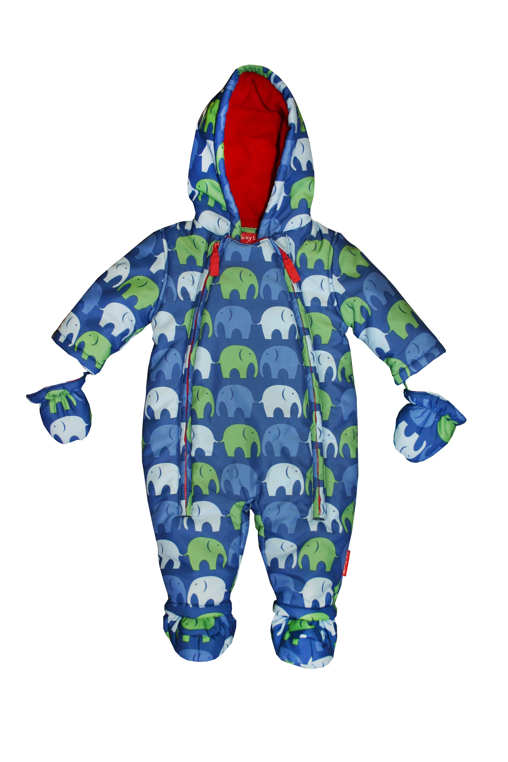 Boy`s padded fleece lined snowsuit
