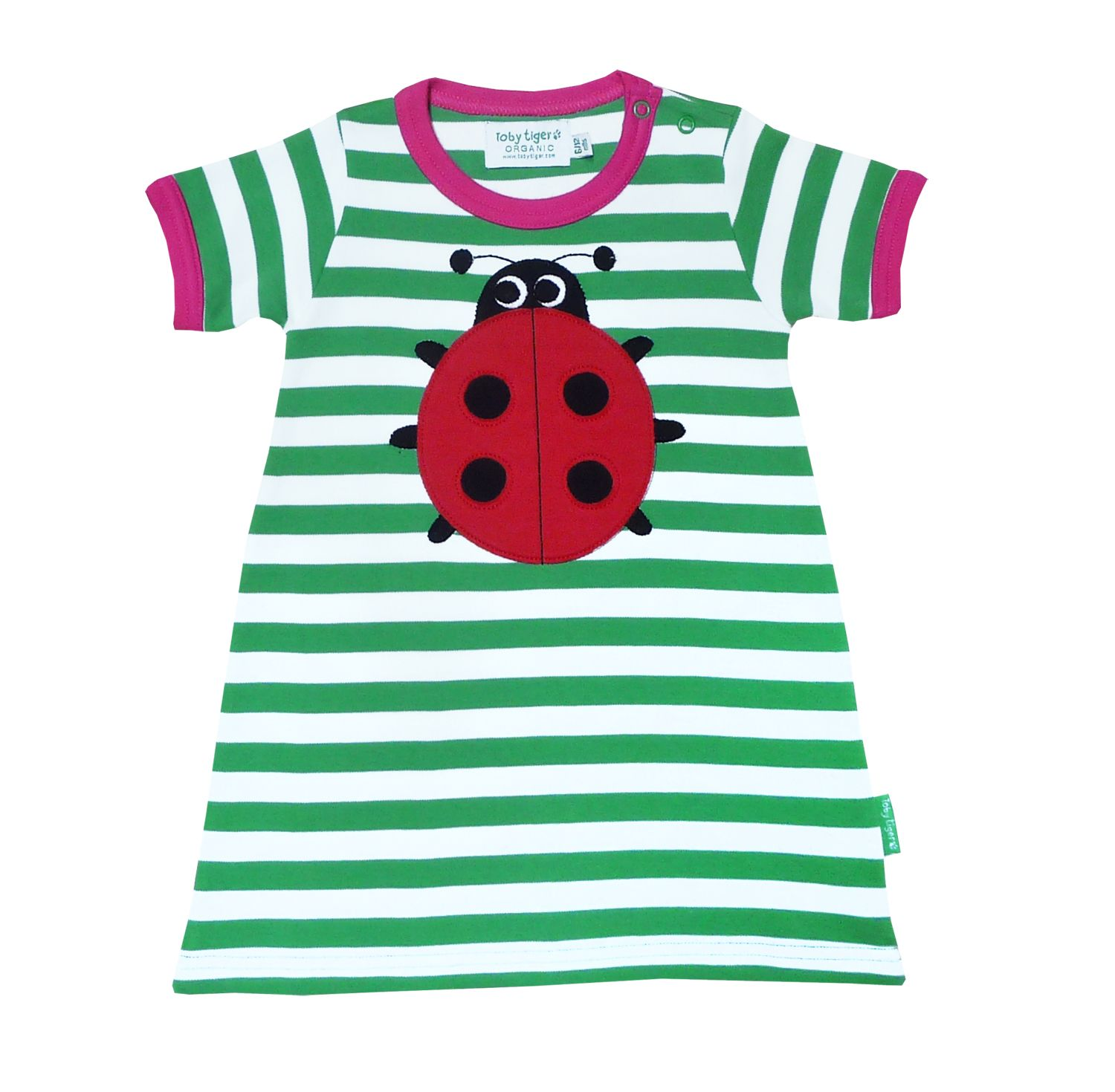 Girl`s Organic short sleeve t-shirt dress