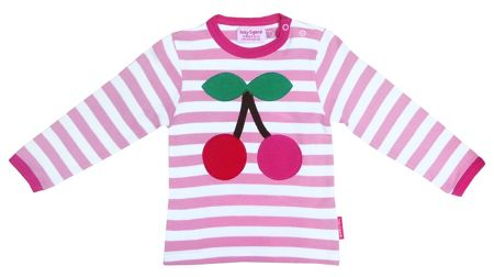 Toby Tiger Girl`s Organic long sleeve t-shirt