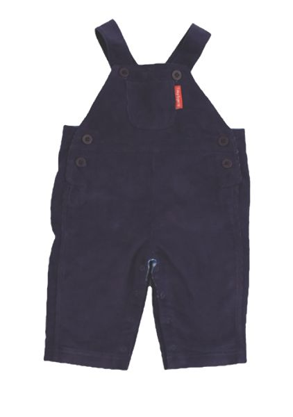 Kid`s cord navy blue dungarees