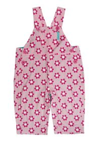 Girl`s cord daisy dungarees