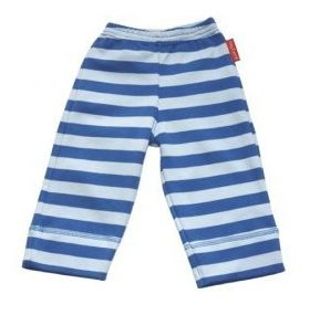 Toby Tiger Boys organic jersey trousers in blue stripe, Blue