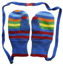 Toby Tiger Boy`s knitted bold mitts