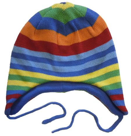 Toby Tiger Boy`s knitted stripe hat