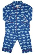 Boy`s cosy dinosaur brushed cotton PJs