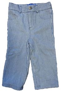 Toby Tiger Kid`s blue stripe denim jeans with poppers