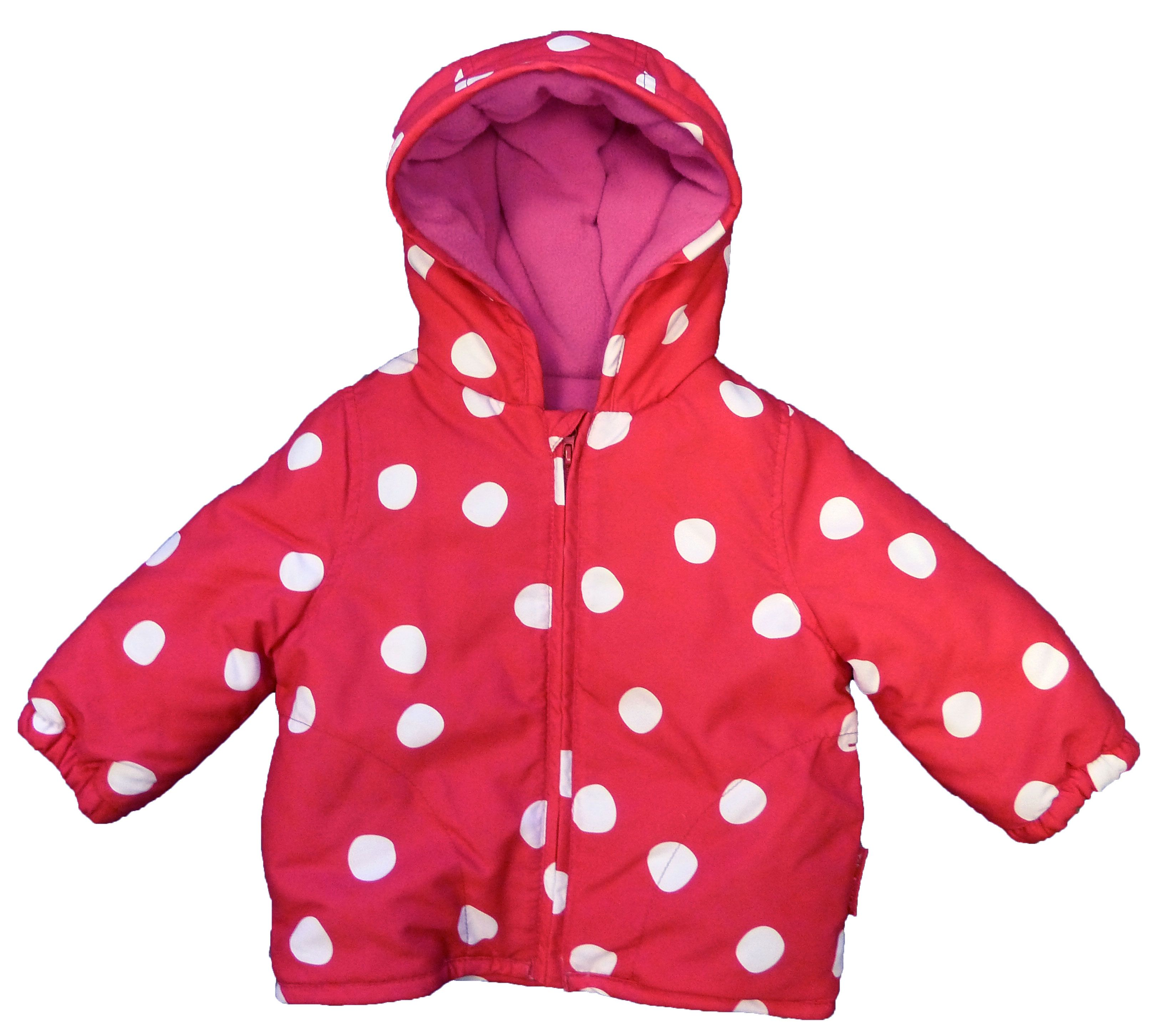 Kid`s padded red spot jacket