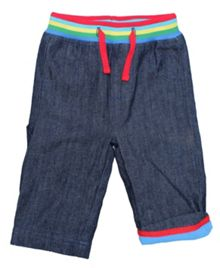 Toby Tiger Kid`s rainbow denim jeans with drawstring