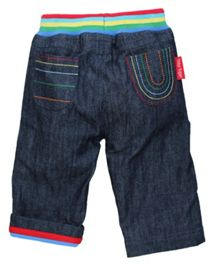 Kid`s rainbow denim jeans with drawstring