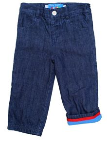 Kid`s rainbow denim jeans with poppers