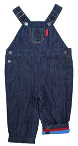 Boy`s cord blue star dungarees