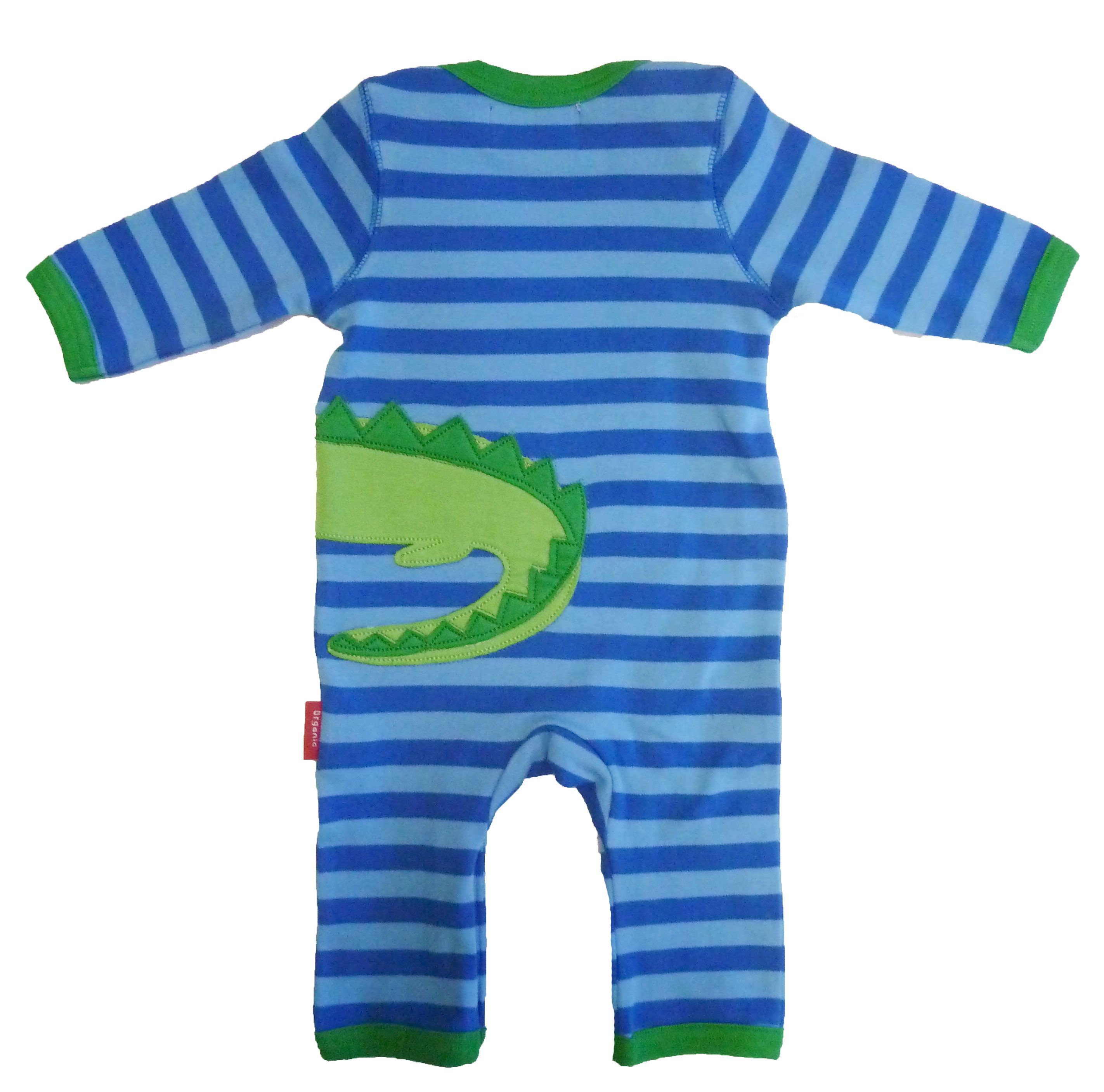 Boy`s organic cotton croc sleepsuit