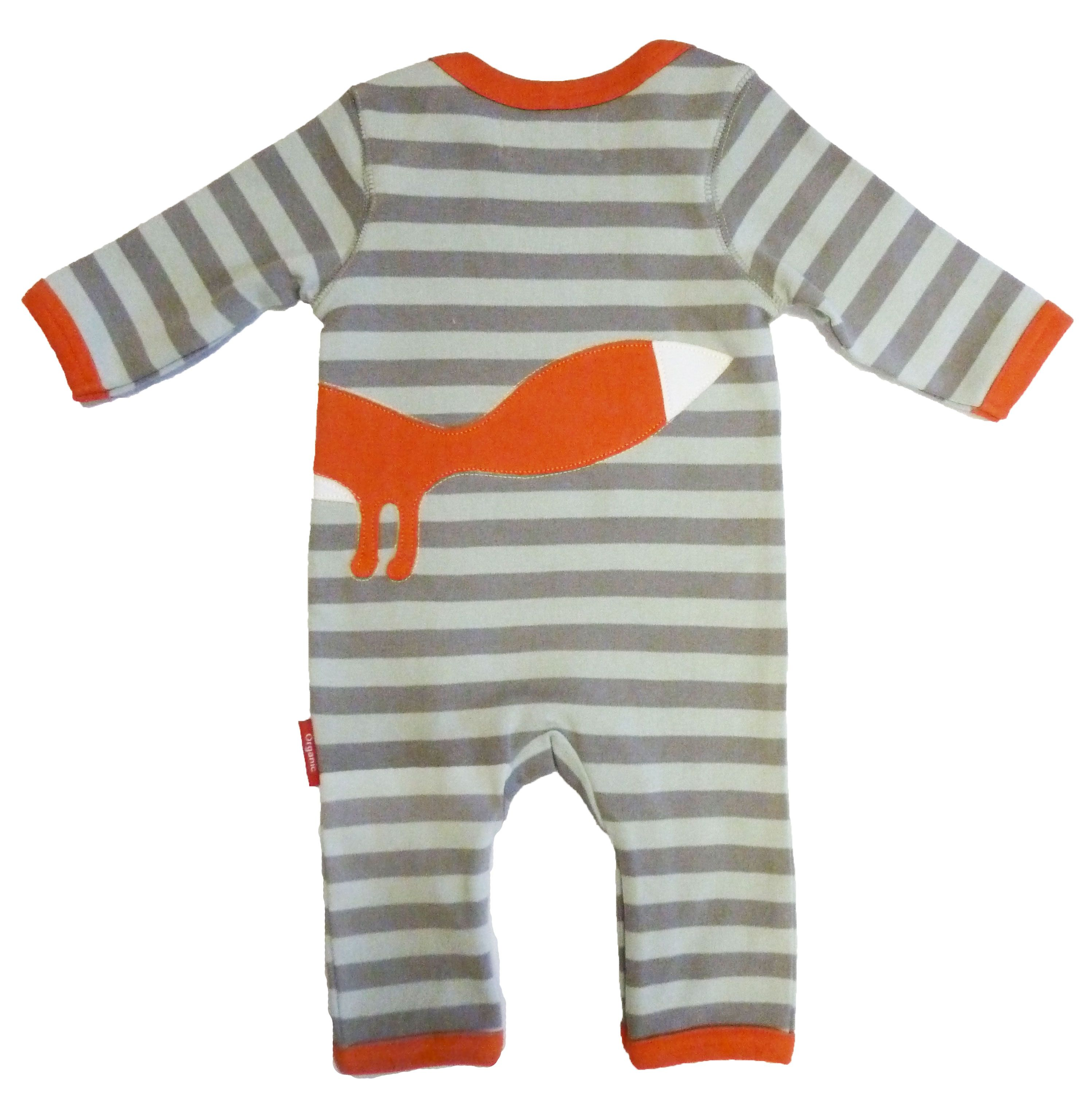 Boy`s organic cotton fox sleepsuit