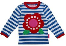 Toby Tiger Girl`s organic cotton long sleeve flower t-shirt