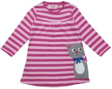 Girl`s organic cotton kitty t-shirt dress