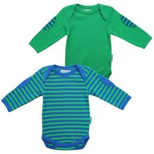 Baby`s organic cotton baby t-shirt pack green