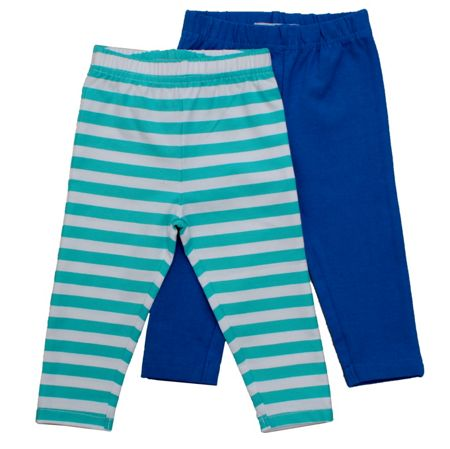 Toby Tiger Girl`s organic cotton leggings pack