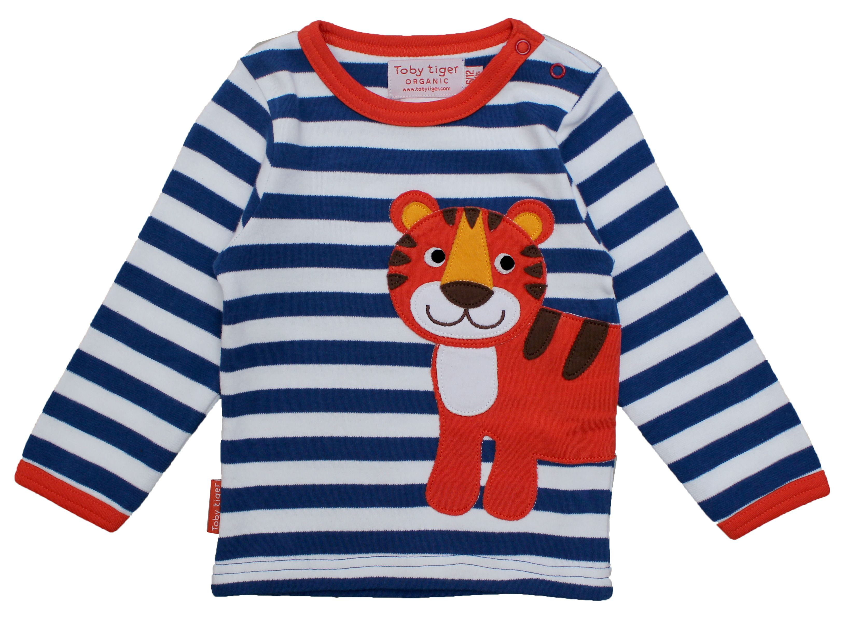 Kid`s organic tiger applique t-shirt
