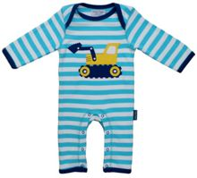 Kid`s organic cotton digger applique sleepsuit