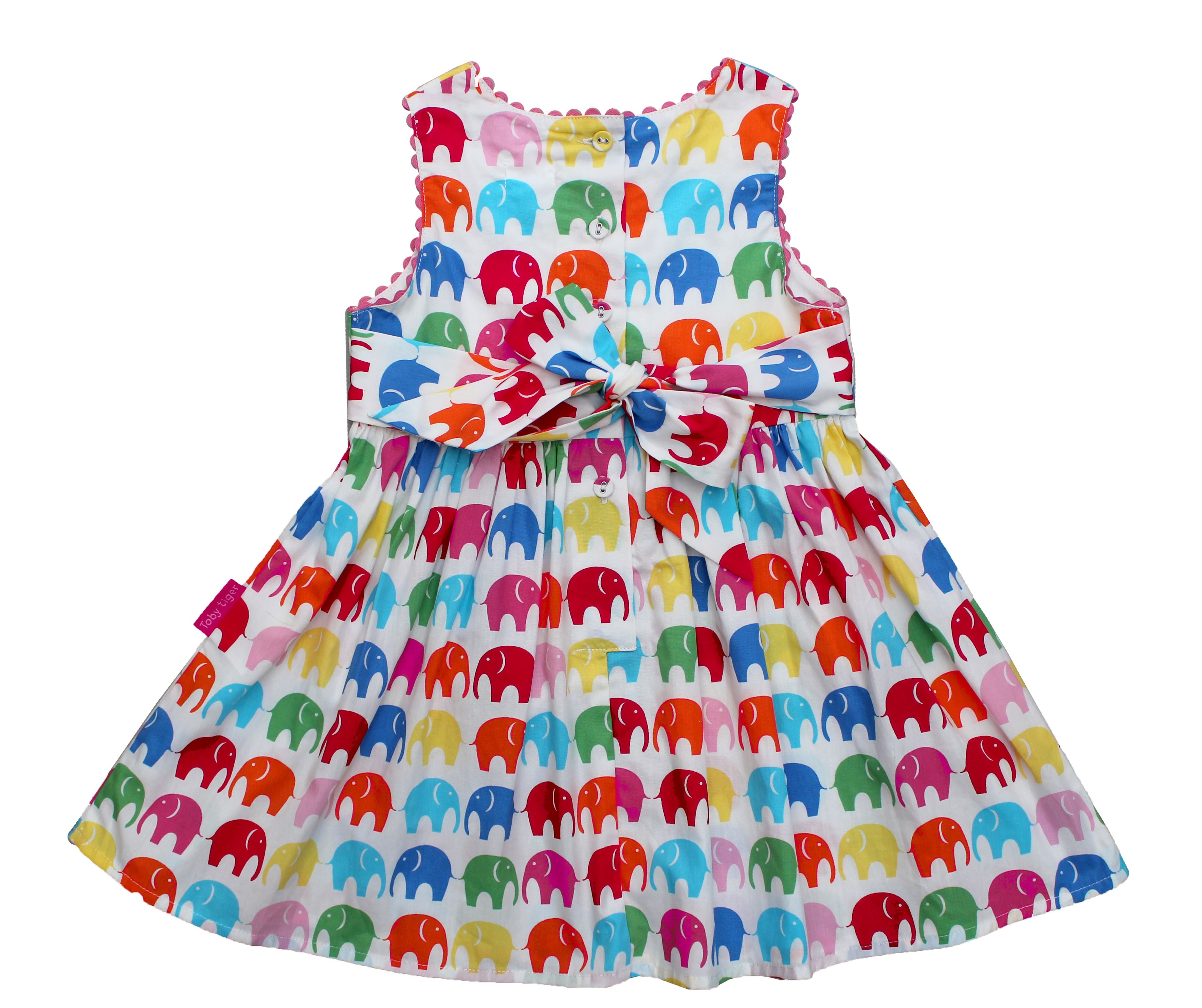 Girl`s multi elly party dress