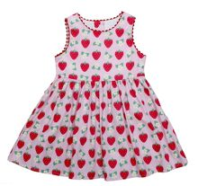 Toby Tiger Girls strawberry party dress
